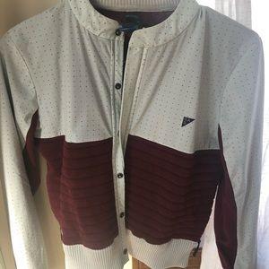 Under Armour zip/button up track jacket- sz: xs